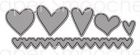 Papersmoochesstamps Stanzform Herzen / Hearts DED-13-106