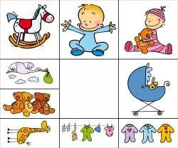 Stempel-Set Baby in Klarsichtbox 10004001
