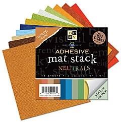 Papier Mat stack NEUTRALS adhesive15,2x15,2 cm MS-010-00008