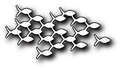 Memorybox Stanzform Fisch-Schwarm / Family Of Fish 99747