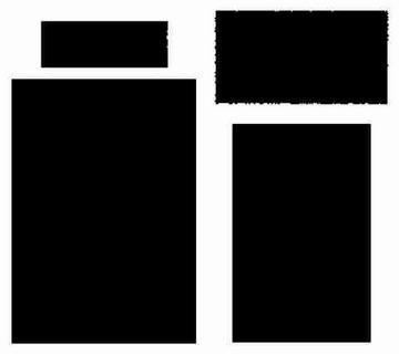 Rahmen viereckig / frames rectangles ZICFX 30