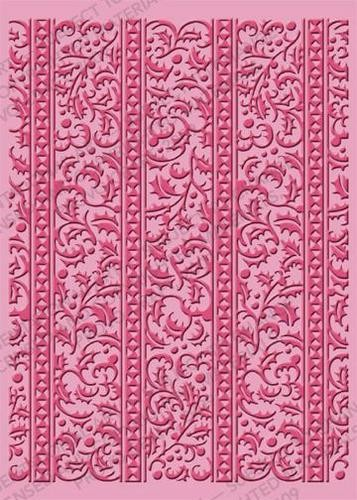 Cuttlebug Prägefolder extra groß Holly Ribbons 37-1927