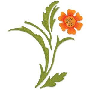 Sizzix Stanzform BIGZ decorative Accent mit Blüte & Blätter/decorative accent w/ flower & leaves 655