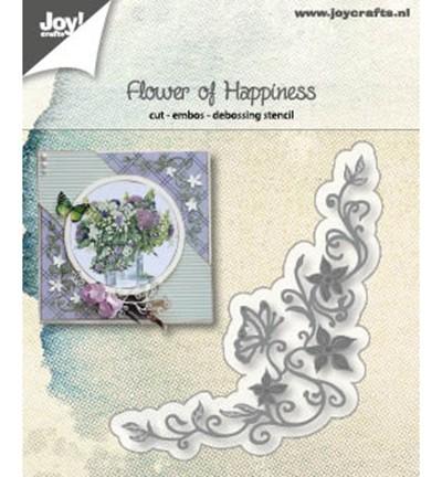 Joycrafts Stanzform Blumen-Ecke / Flower Of Happiness 6002/1186
