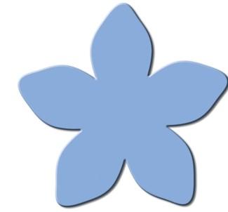 Motivstanzer Maxi Sternenblume ( hellblau ) UR 1945 00 73