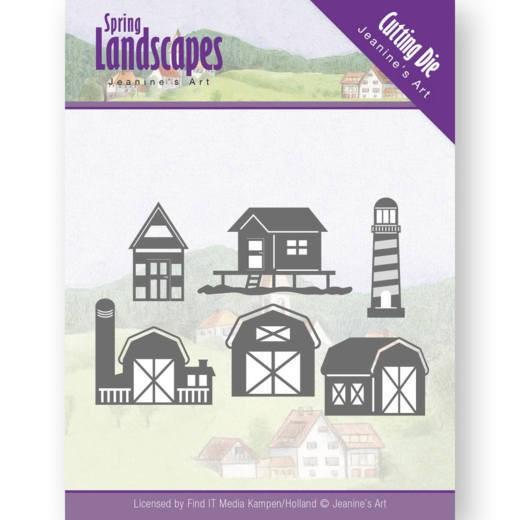 Jeaninnes Art Stanzform Scheune, Strandhaus,Bauernhof u. Leuchtturm / Houses on the Horizon JAD10071