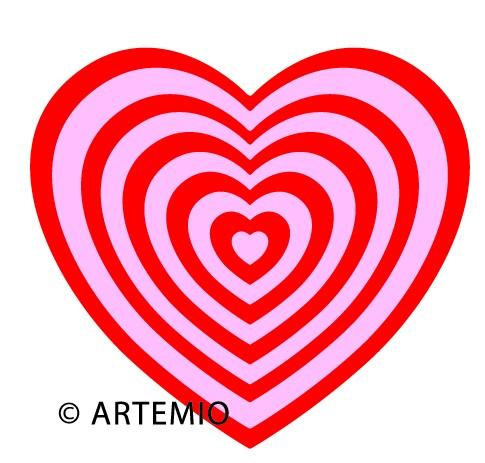 ARTEMIO Happycut Stanz-u. Prägeformen A 4 MEGA Herzen 18034003