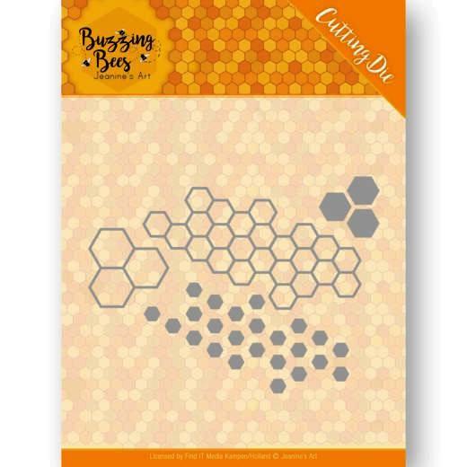 Jeaninnes Art Stanzform Bienenwaben / Buzzing Bees - Hexagon-Set JAD10074