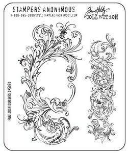 Tim Holtz Stempel Fabulous Flourishes CMS070 / 3612-002