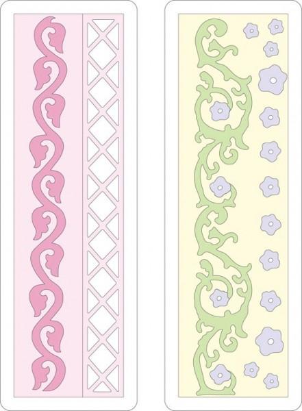Cuttlebug Stanzform Border 2-er Florales / Floral & Scrolling 37-1114