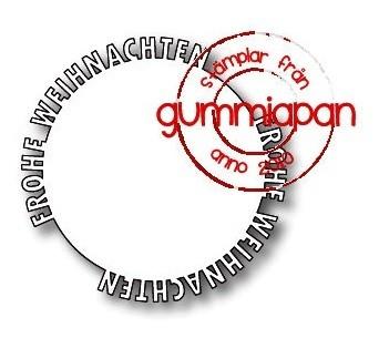 Gummiapan Stanzform Frohe Weihnachten Kreis / Frohe Weihnachten Cirkel D180847