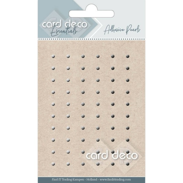 Card Deco Essentials Halbperlen selbstklebend 3 mm braun / creme CDEAP005