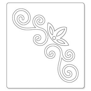 Sizzix Stanzform BIGZ Blume & Stengel Ornament # 2 / flower & vine # 2 654708