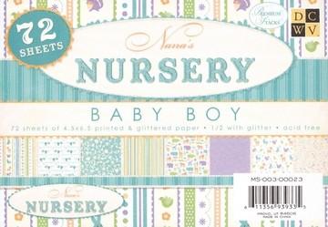 Papierblock Nursery BOY 11,4 x 16,5 cm MS-003-00023