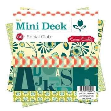"Mini Deck Papierblock Social Club 6 "" x 6 "" PAD826"