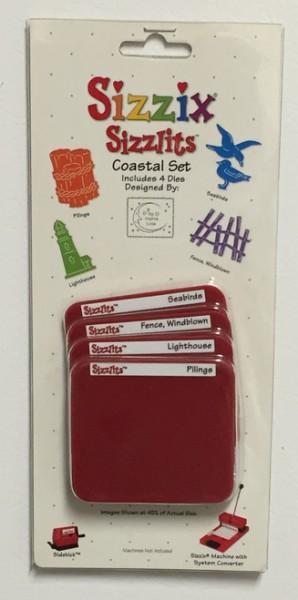 Sizzix Stanzform Sizzlits SMALL 4-er Sett Coastal Set 38-9692