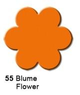 Motivstanzer mittel Blume ( orange ) UR 1948 00 55