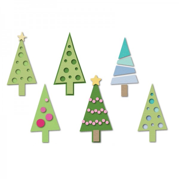 Sizzix Stanzform Triplits Weihnachtsbäume / Christmas Trees 659926 / 59-111-000