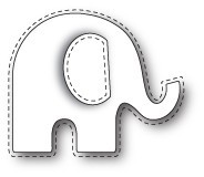 Poppystamps Stanzform Elefant mit Nähnaht / Stitched Elephant 1361