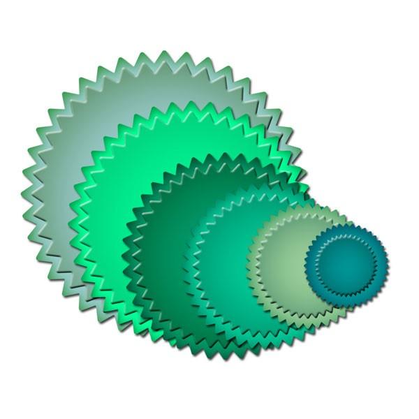 Spellbinders Stanzform Kleine Pinking Kreise / small pinking Circles S4-172