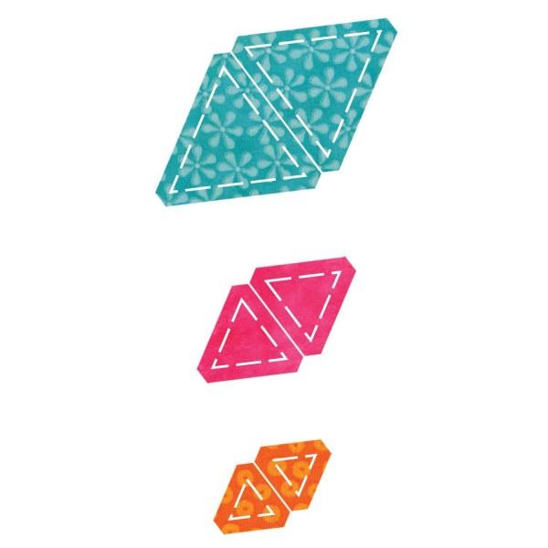 Stanzform Go! Dreiecke gleichmäßig/equilateral triangles 55079
