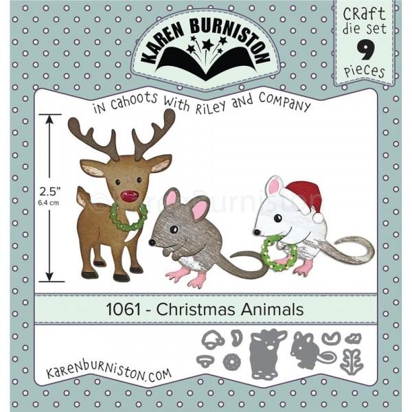 Karen Burniston Stanzform Weihnachtstiere Elch u. Maus / Christmas Animals 1061