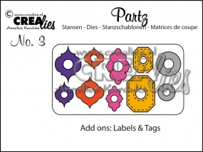 Crealies Add Ons für Labels & Tags CLPartz03