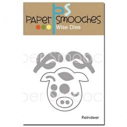 Paper Smooches Stanzform Elch Gesicht / Reindeer NOD354