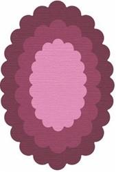 Cookie Cutter Ovale gewellt/nesting oval scall. CC-SHAPE-3-036