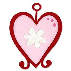 Sizzix Stanzform Originals LARGE Valentins Ornament / ornament Valentine 655697