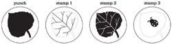 Martha Stewart Stanzer-u. Stempel-Set Baltt / leaf 42-25009