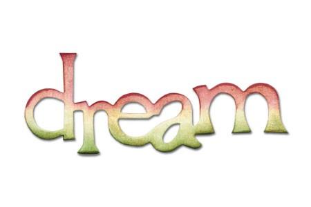 """Sizzix Stanzform Originals MEDIUM """"dream """" phrase dream 656565"""