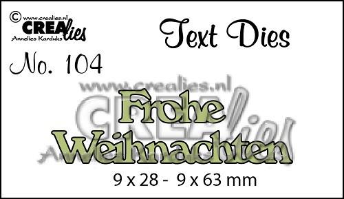Crealies Stanzform Text Frohe Weihnachten CLTSS104