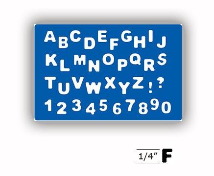 Cheery Lynn Designs Alphnabet Micro Mini 0,6 cm FS116