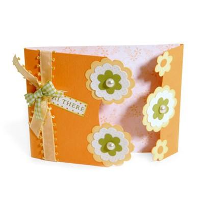 Sizzix Stanzform BIGZ XL Karte A 2 mit Blumen-Silhouette / card A 2 fold w / flower silhouette 6563