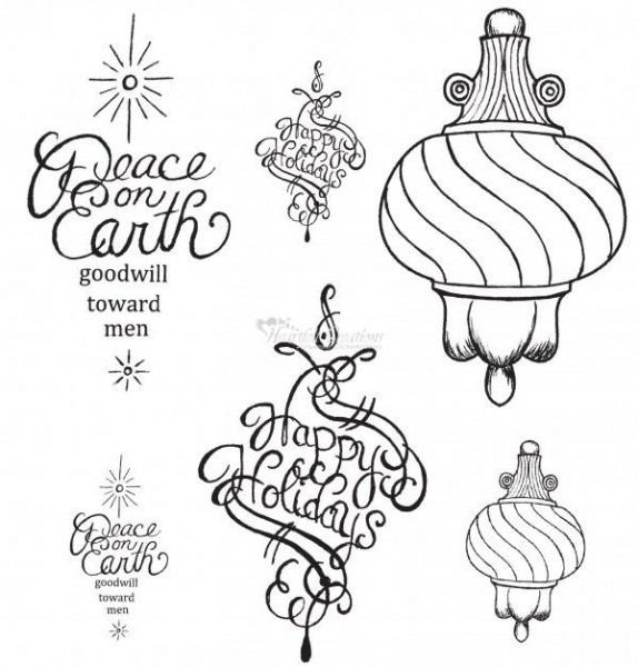 Heartfelt Creations Stempel Fancy Ornament HCPC3337