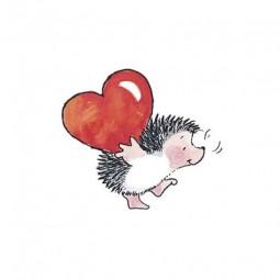 Penny Black Holzstempel Igel mit Herz auf dem Rücken / Weight Of Love 3106F