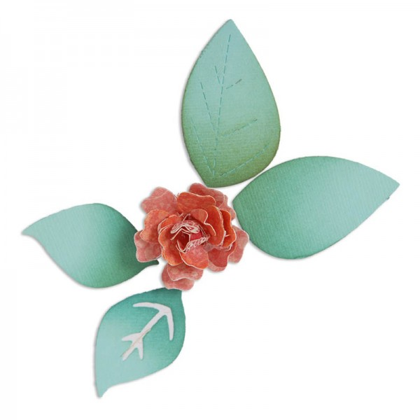 Sizzix Stanzform Sizzlits groß Blume 3-D / Flower bloom w/ Leaves 658501