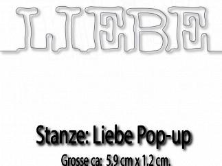 Kulricke Stanzform ' Liebe ' Pop-Up C-D237