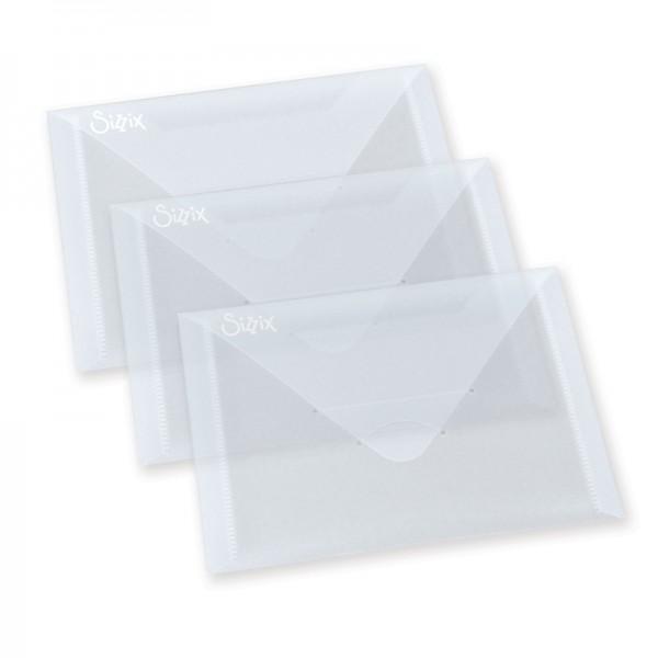 Sizzix Aufbewahrungs-Umschläge Plastik / Plastic Envelopes 654452
