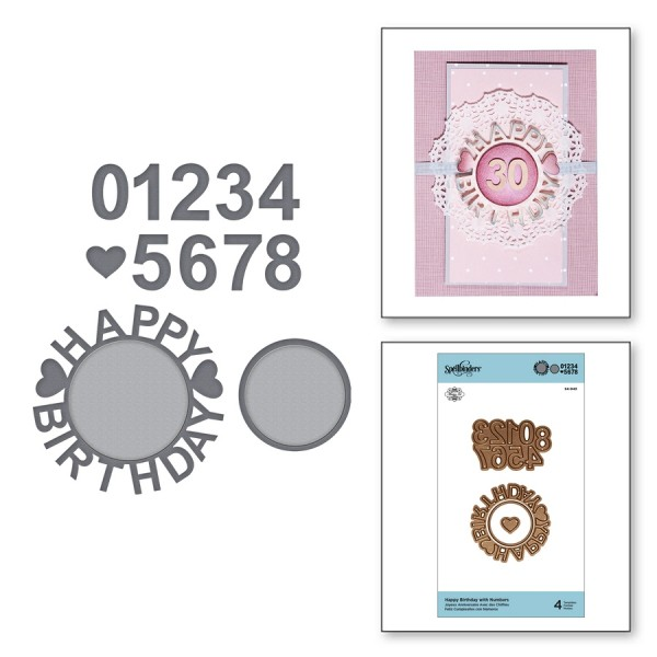 Spellbinders Stanzform Happy Birthday mit Zahlen / Happy Birthday with Numbers S4-943