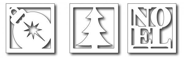 Frantic Stamper Stanzform Mix ' N Match Weihnachts-Symbole im Quadrat / Christmas Windows FRA-DIE-09