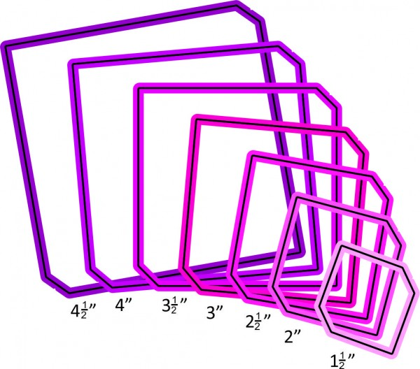 Cheery Lynn Stanz-u.Prägefo.Quadrat / Square w/ Hem QF112