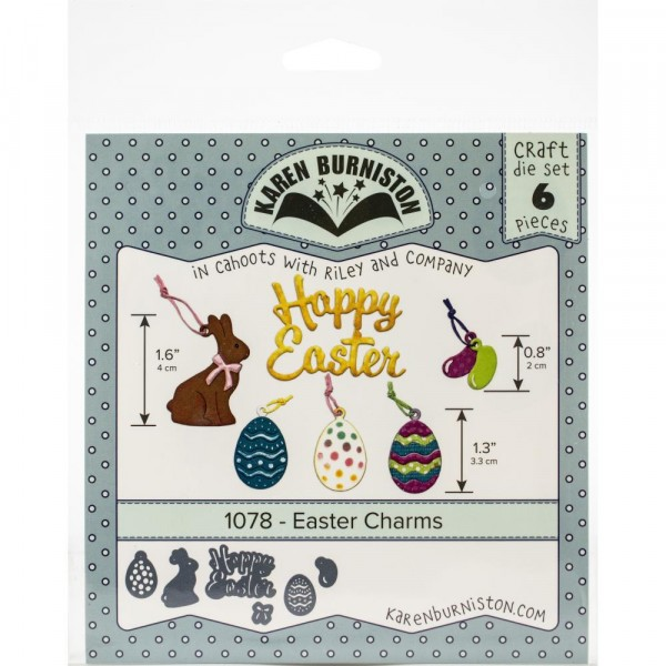 Karen Burniston Stanzform Oster-Charms / Easter Charms 1078