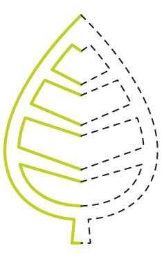 EK Success Hebel-Motivstanzer medium Fold-Over Leaf PSM111C (grü