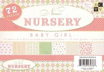 Papierblock Nursery GIRL 11,4 x 16,5 cm MS-003-00024