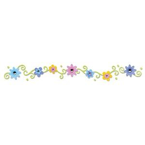 Sizzlits Border Hello Kitty Blumen u. Wirbel 656 005