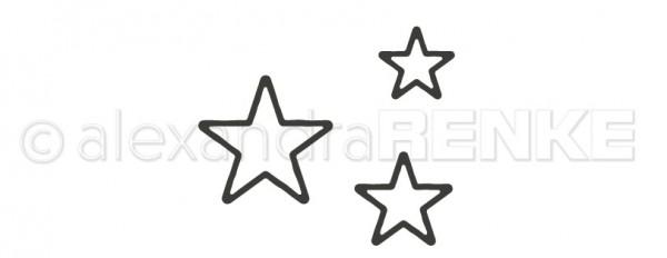 Alexandra Renke Stanzform Sterne Outline klein D-AR-RA0025