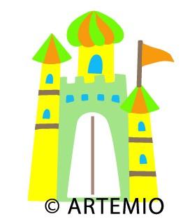 Artemio Happycut Stanzform 6,8 cm x 6,8 cm Schloß / castle 18030004