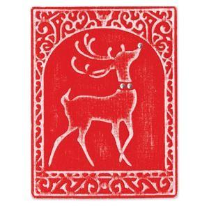 Sizzix Stanz-u. Prägeform Embosslits XL Rentier / Reindeer 655388